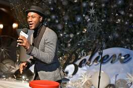 CHICAGO, IL - NOVEMBER 05:  Aloe Blacc helps Macy'sand Make-A-Wish� launch annual Believe Campaign at Macy'sState Street store with The 109th Annual Great Tree Lighting ceremony on November 5, 2016 in Chicago, Illinois.  (Photo by Daniel Boczarski/Getty Images for Macy's)