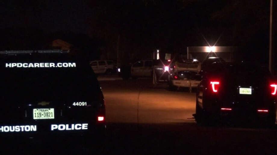 Houston police investigate a home invasion near Missouri City, Texas, late on Monday, Nov. 14, 2016. (Metro Video)