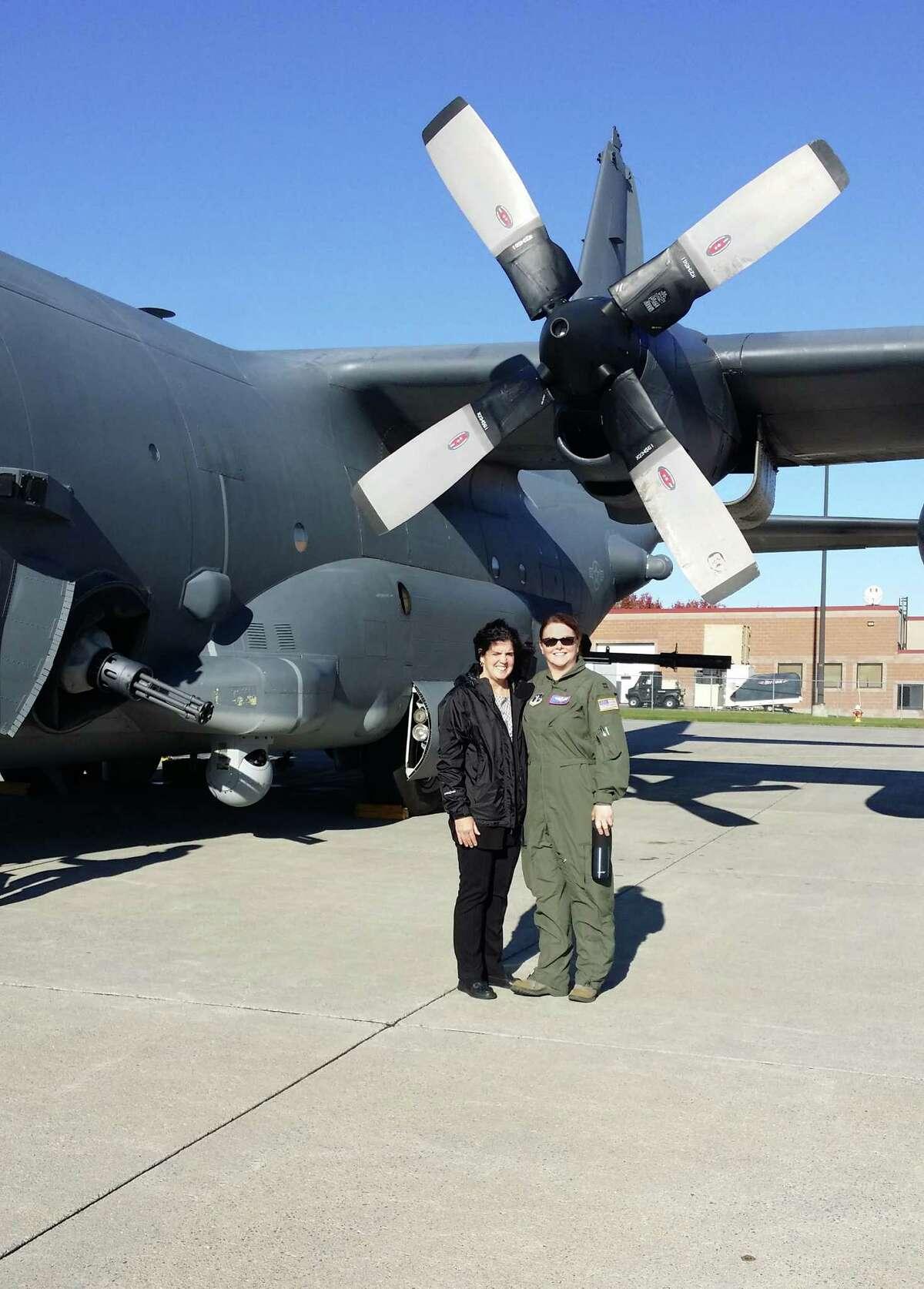 Helen Krajick and Capt. Donna McCormick
