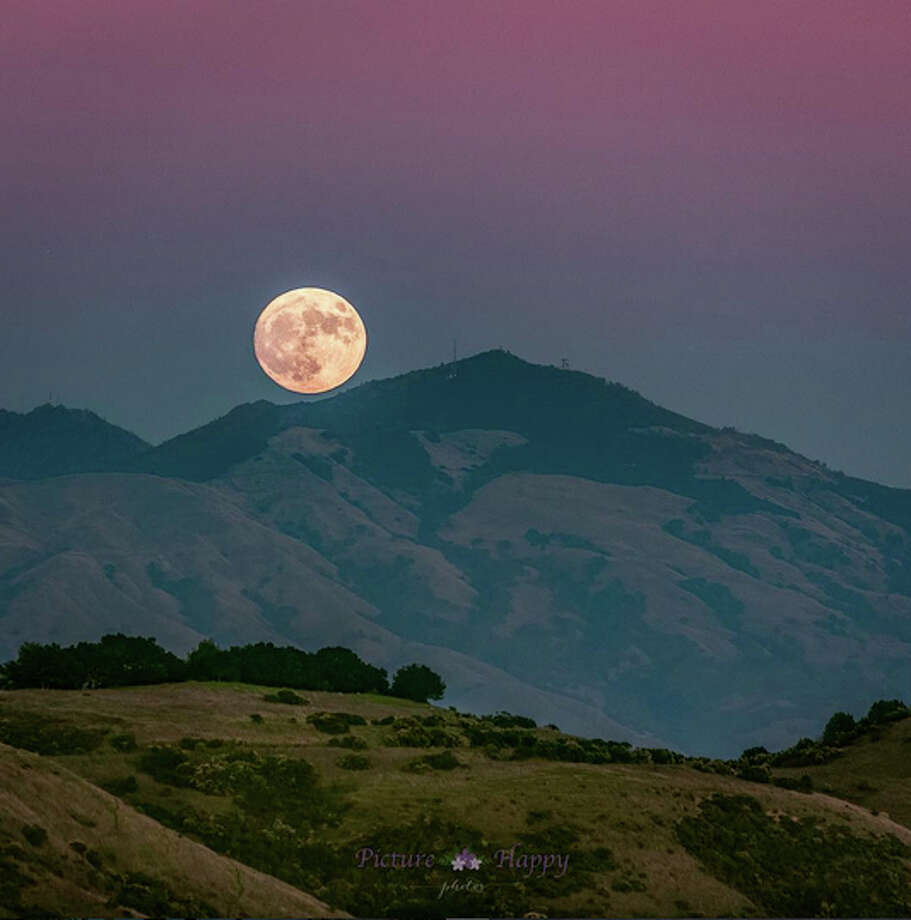 A 69-mile-per-hour wind gust was recorded atop Mount Diablo at 6:40 a.m. on Dec. 4.(Photo:@picturehappyphotos captured the Supermoon rising over Mount Diablo in the East Bay in 2016). Photo: @picturehappyphotos / Instagram