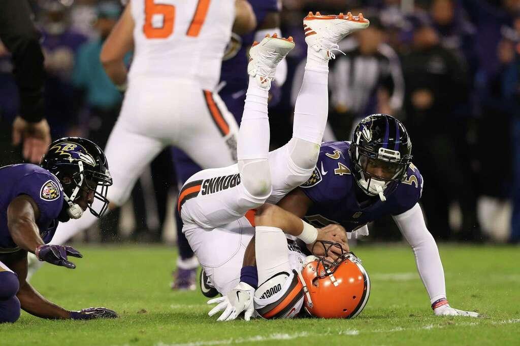 cd1375ce2b49 ... MD - NOVEMBER 10 Inside linebacker Zach Orr 54 of the Baltimore  Baltimore Ravens ...