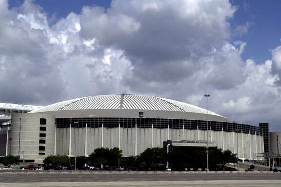 "Houston's Astrodome shines under a Texas sky Monday, June 2, 2003, as its landlords put out a call for anyone with ideas _ and the means to implement them _ of what to do with the old stadium. This summer officials will try to figure out whether it can be feasible to save the ""Eighth Wonder of the World"" or flatten it. (AP Photo/Pat Sullivan)"