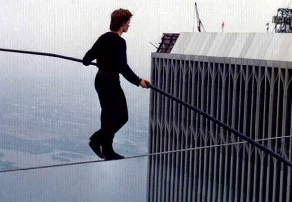 """Friday: The New York State Writers Institute will host a free screening of """"Man on Wire,"""" the film about Philippe Petit's walk between the World Trade Center towers, at University at Albany's downtown campus."""