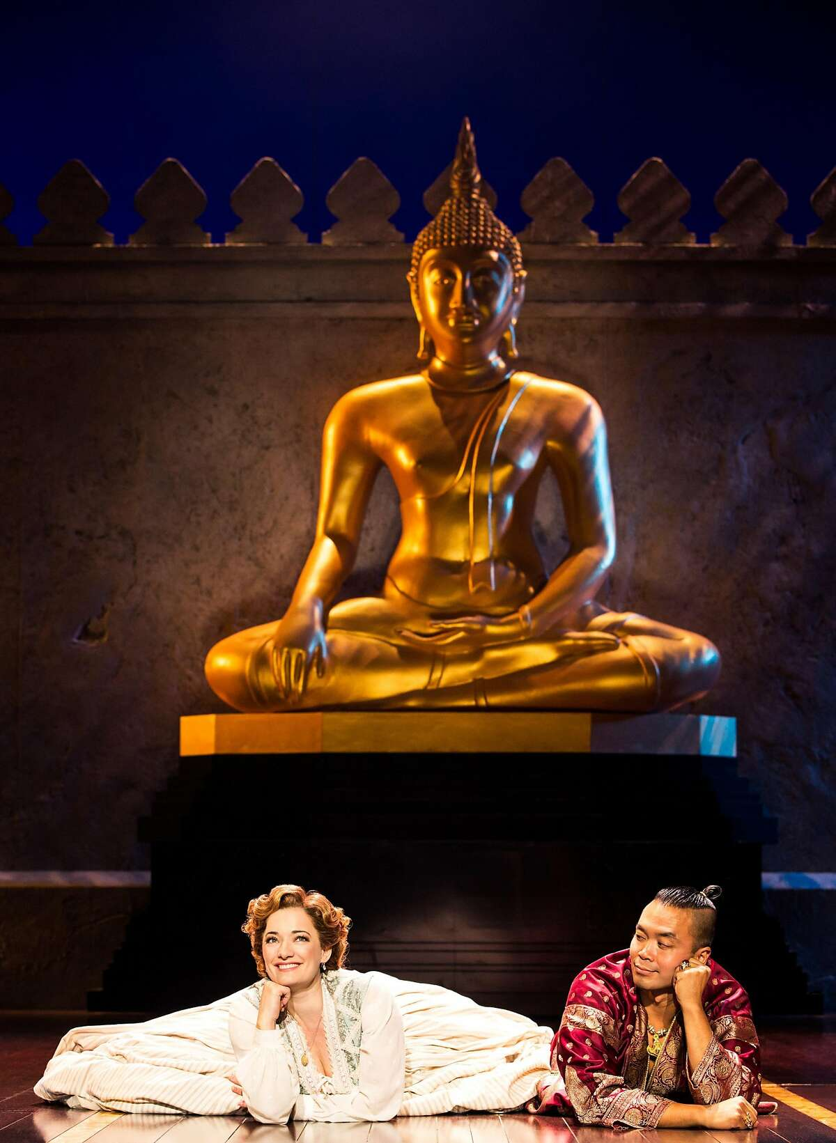 Laura Michelle Kelly, left, and Jose Llana in SHN's