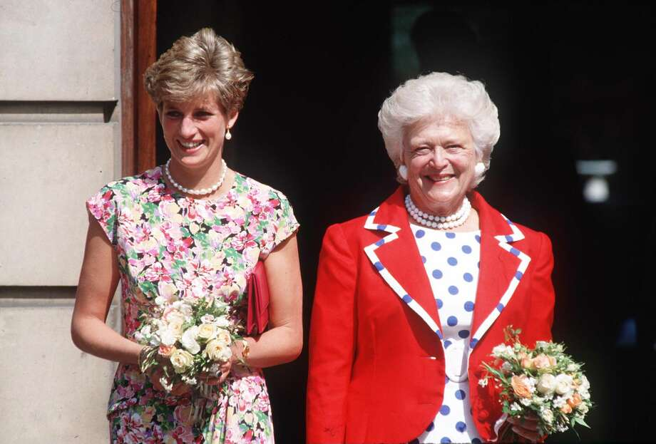Princess Diana with First Lady Barbara Bush visiting The Middlesex Hospital in London. Photo: Tim Graham/Tim Graham/Getty Images, Getty Images