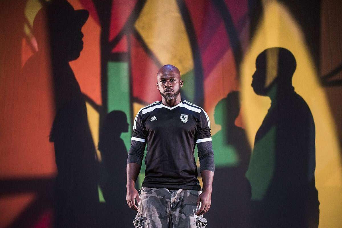 """Marc Bamuthi Joseph in """"/peh-LO-tah/"""" at Yerba Buena Center for the Arts."""