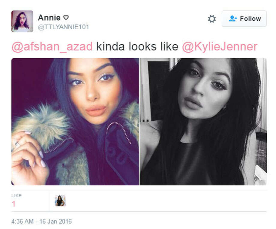 Afshan Azad (left), the actress who played Padma Patil in Harry Potter is all grown up and the web thinks she looks a lot like reality star Kylie Jenner (right).Source: Twitter Photo: Twitter