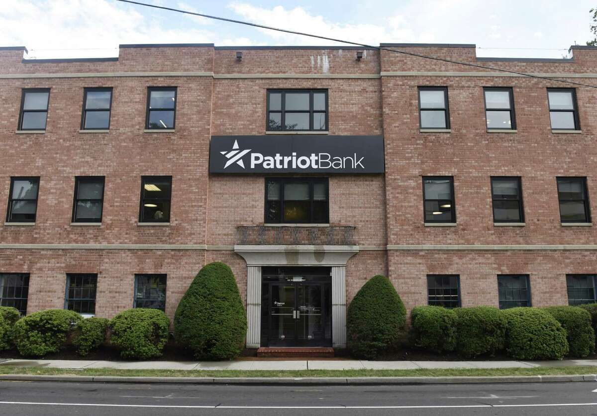 Patriot Bank's company headquarters on 900 Bedford Street in Stamford.