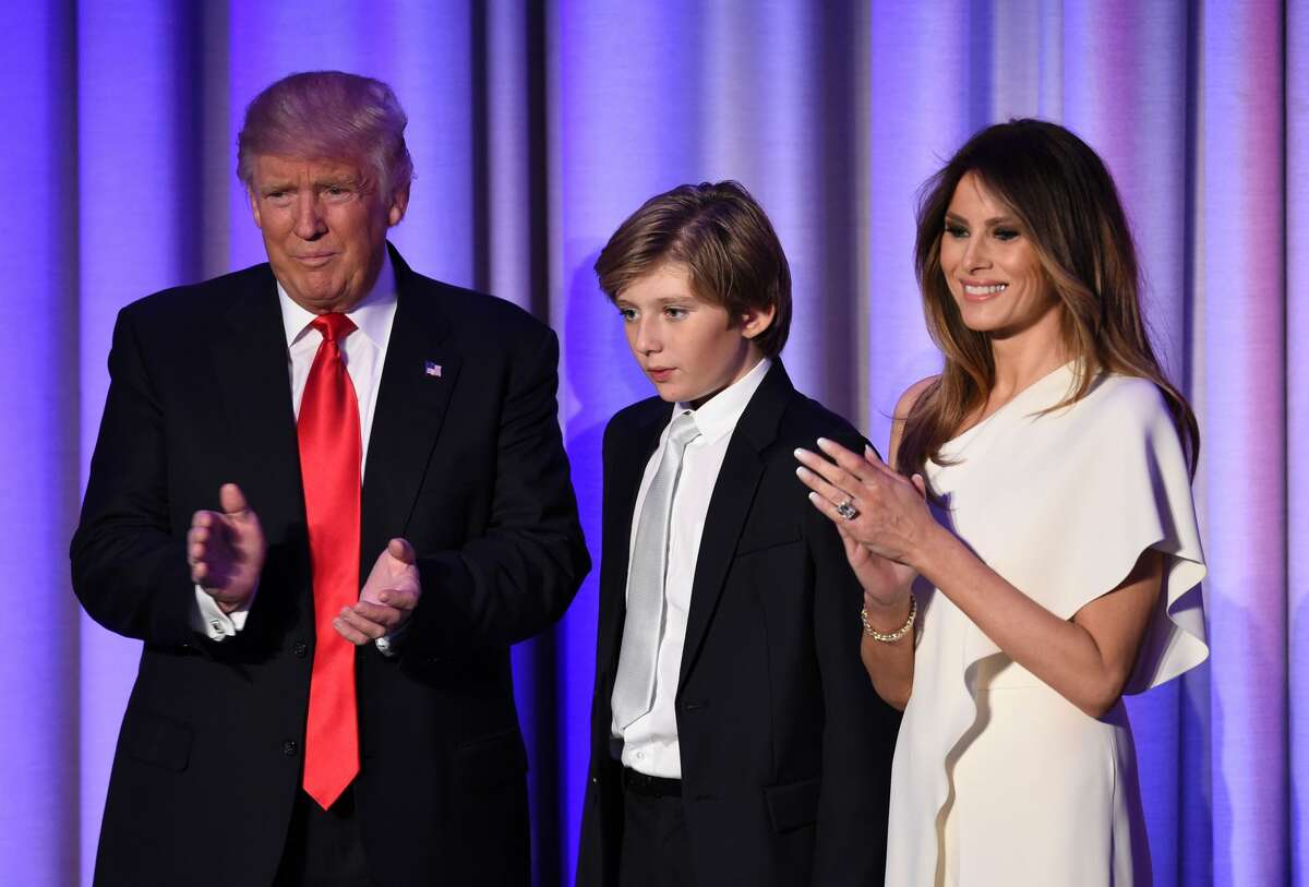 Facts about Barron Trump Basics Barron William Trump was born on March 20, 2006 in Manhattan. His dad picked his first name; his mom picked his middle name. Keep clicking to learn more about the next First Kid.