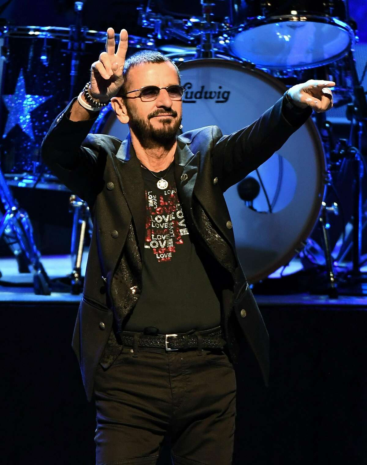 LAS VEGAS, NV - NOVEMBER 13: Recording artist Ringo Starr performs with Ringo Starr & His All-Starr Band at The Smith Center for the Performing Arts on November 13, 2016 in Las Vegas, Nevada. (Photo by Ethan Miller/Getty Images)