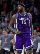Sacramento Kings center DeMarcus Cousins is shown during the second half of an NBA basketball game in Portland, Ore., Friday, Nov. 11, 2016. The Trail Blazers won 122-120. (AP Photo/Craig Mitchelldyer)