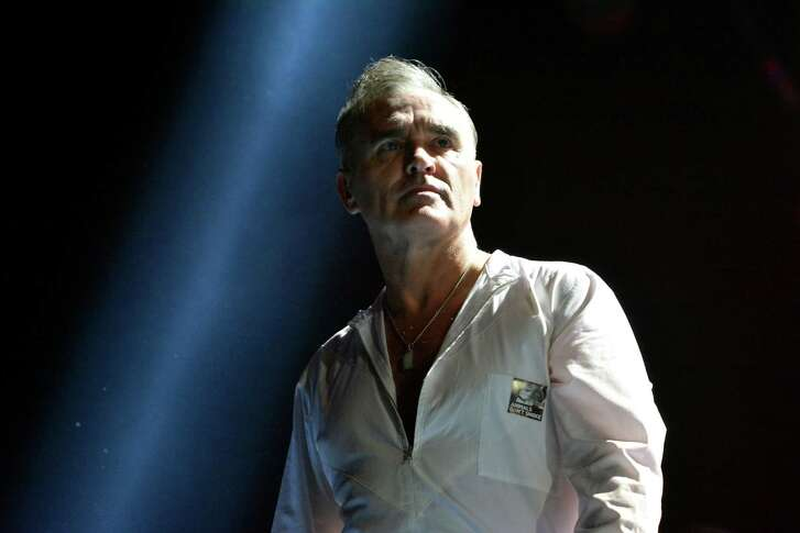 LONDON, ENGLAND - NOVEMBER 29:  Morrissey performs live on stage at 02 Arena on November 29, 2014 in London, England.  (Photo by Jim Dyson/WireImage)