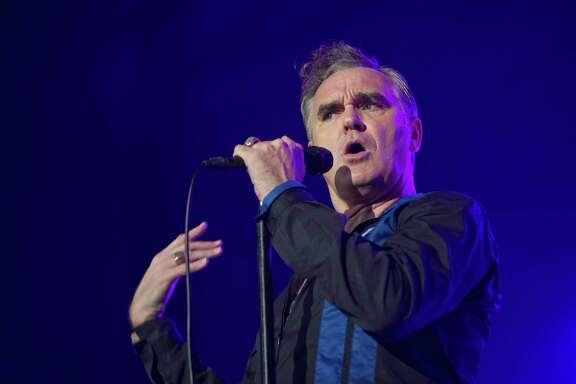 BARCELONA, SPAIN - OCTOBER 10: Morrissey performs on stage at Sant Jordi Club on October 10, 2014 in Barcelona, Spain. (Photo by Jordi Vidal/Redferns via Getty Images)