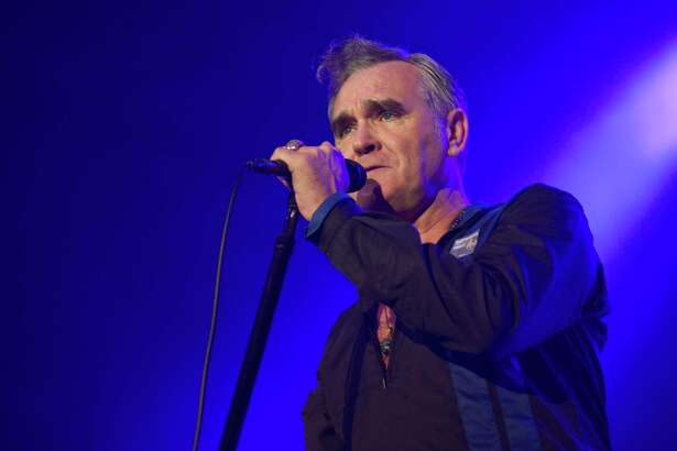 BARCELONA, SPAIN - OCTOBER 10: Morrissey performs on stage at Sant Jordi Club on October 10, 2014 in Barcelona, Spain. (Photo by Jordi Vidal/Redferns via Getty Images)