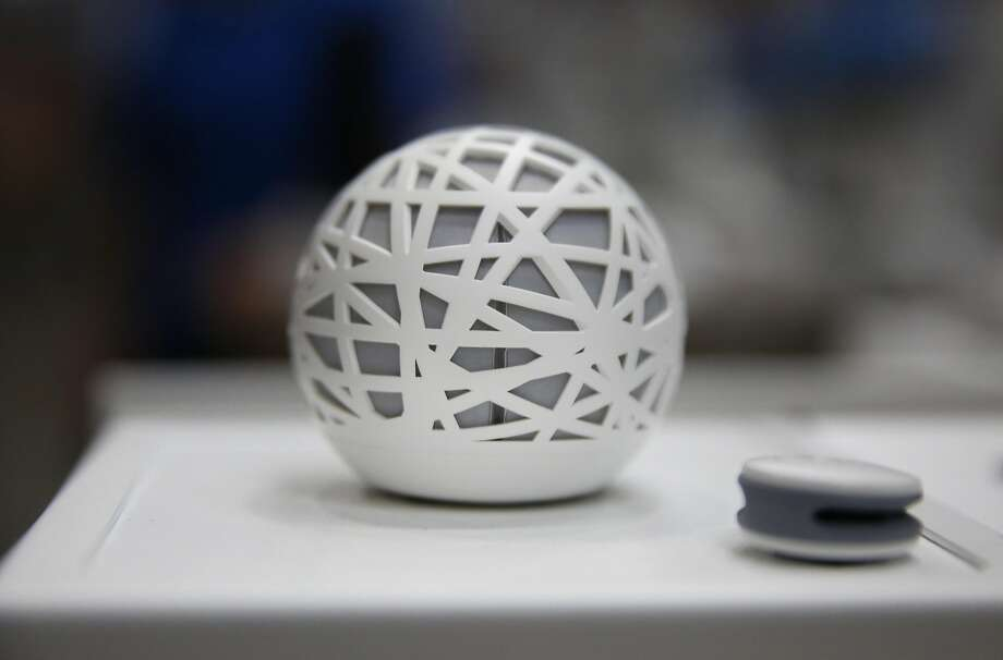 A Sense Smart Alarm with Sleep Monitor by Hello is among the items for sale at SmartSpot Powered by B8ta retail spaces. Photo: Leah Millis, The Chronicle