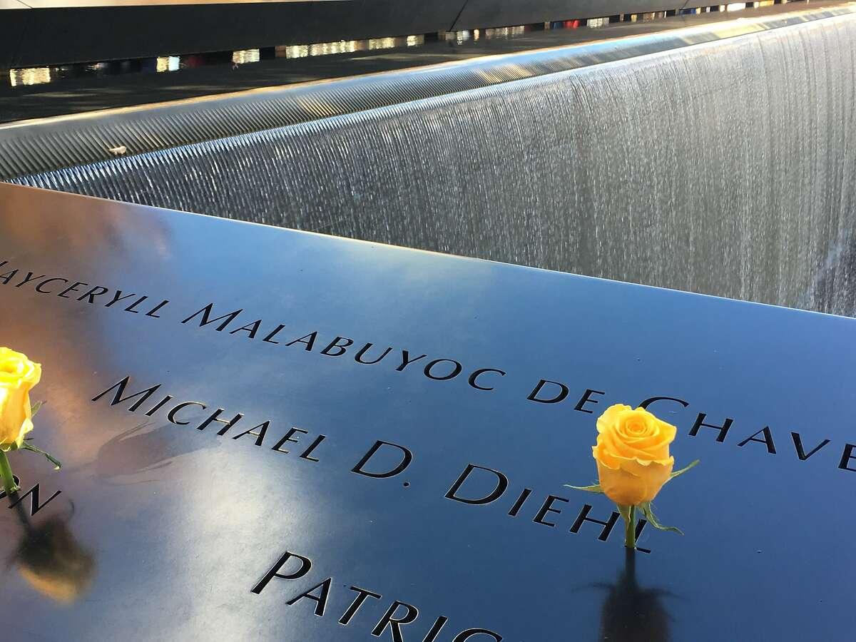 The 9/11 Memorial in New York.