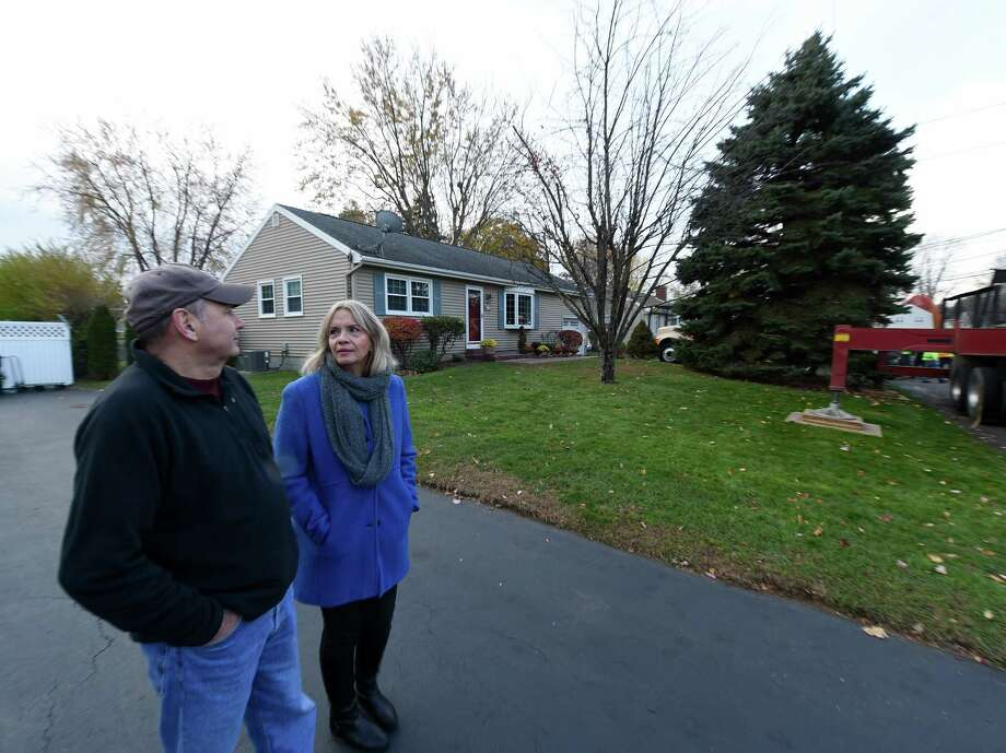 colonie family donates tree for capitol park times union