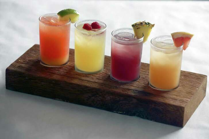 The sangria flight: Big Red (from left), Jameson & Ginger, Red and Grapefruit.