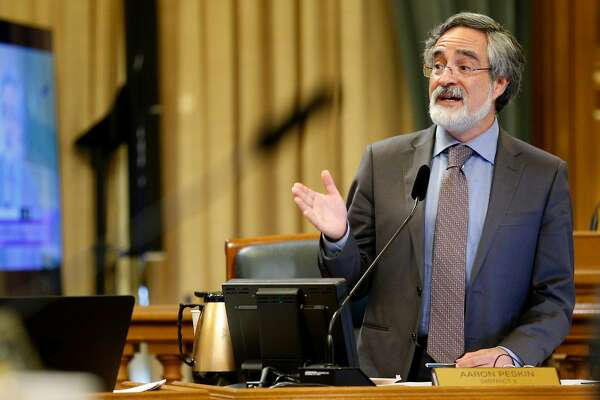 Supervisor Aaron Peskin, during a Board of Supervisors meeting at City Hall, on Tuesday, Nov. 15, 2016 in San Francisco, Calif.