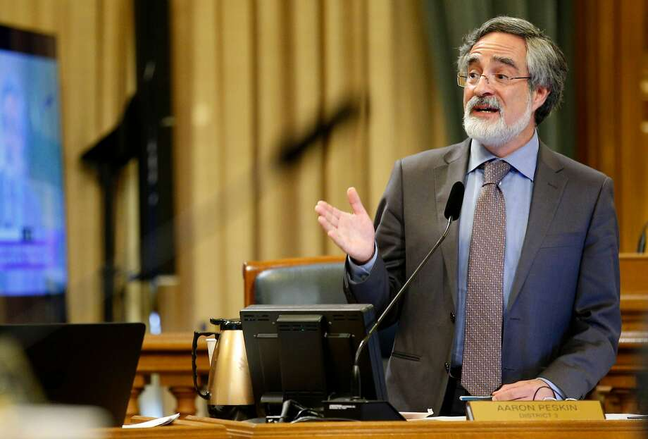Supervisor Aaron Peskin, during a Board of Supervisors meeting at City Hall, on Tuesday, Nov. 15, 2016 in San Francisco, Calif. Photo: Santiago Mejia / The Chronicle