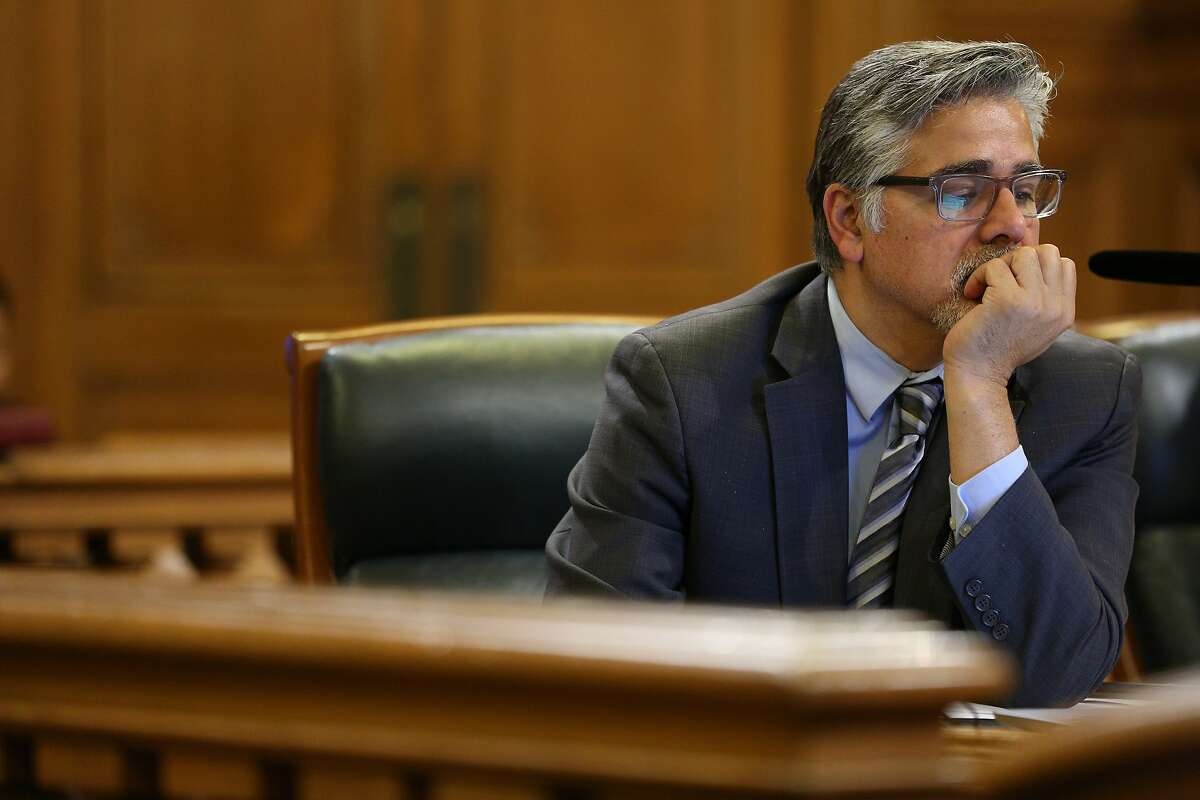 Supervisor John Avalos, during a Board of Supervisors meeting at City Hall, on Tuesday, Nov. 15, 2016 in San Francisco, Calif.