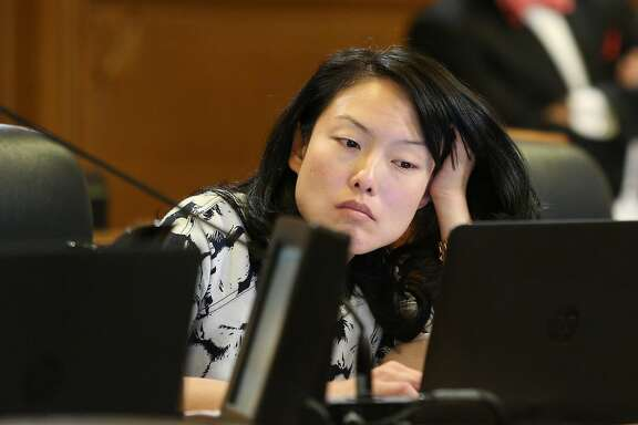 Supervisor Jane Kim, during a Board of Supervisors meeting at City Hall, on Tuesday, Nov. 15, 2016 in San Francisco, Calif.
