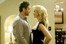 """#51. """"The Ugly Truth""""   Smart Rating:  38.76  Inflation-adjusted U.S. box office gross:  $98,225,000  Release year:  2009  Starring:  Katherine Heigl, Gerard Butler, Eric Winter  A chauvinist (Gerard Butler) puts a romantically challenged producer (Katherine Heigl) through a series of outrageous tests to prove his theories about relationships."""