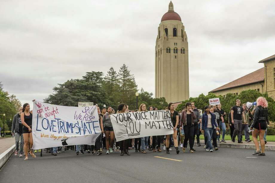 Hundreds walk out of Stanford classes, demand 'sanctuary campus'