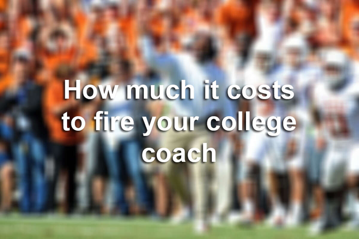 Keep clicking to see how much it costs to fire your college coach.