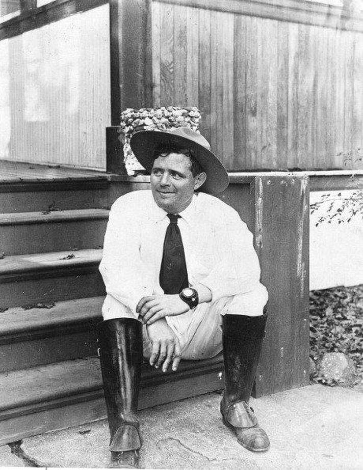 Jack London in 1916, the year he died. Photo: PhotoQuest / Getty Images, Getty Images