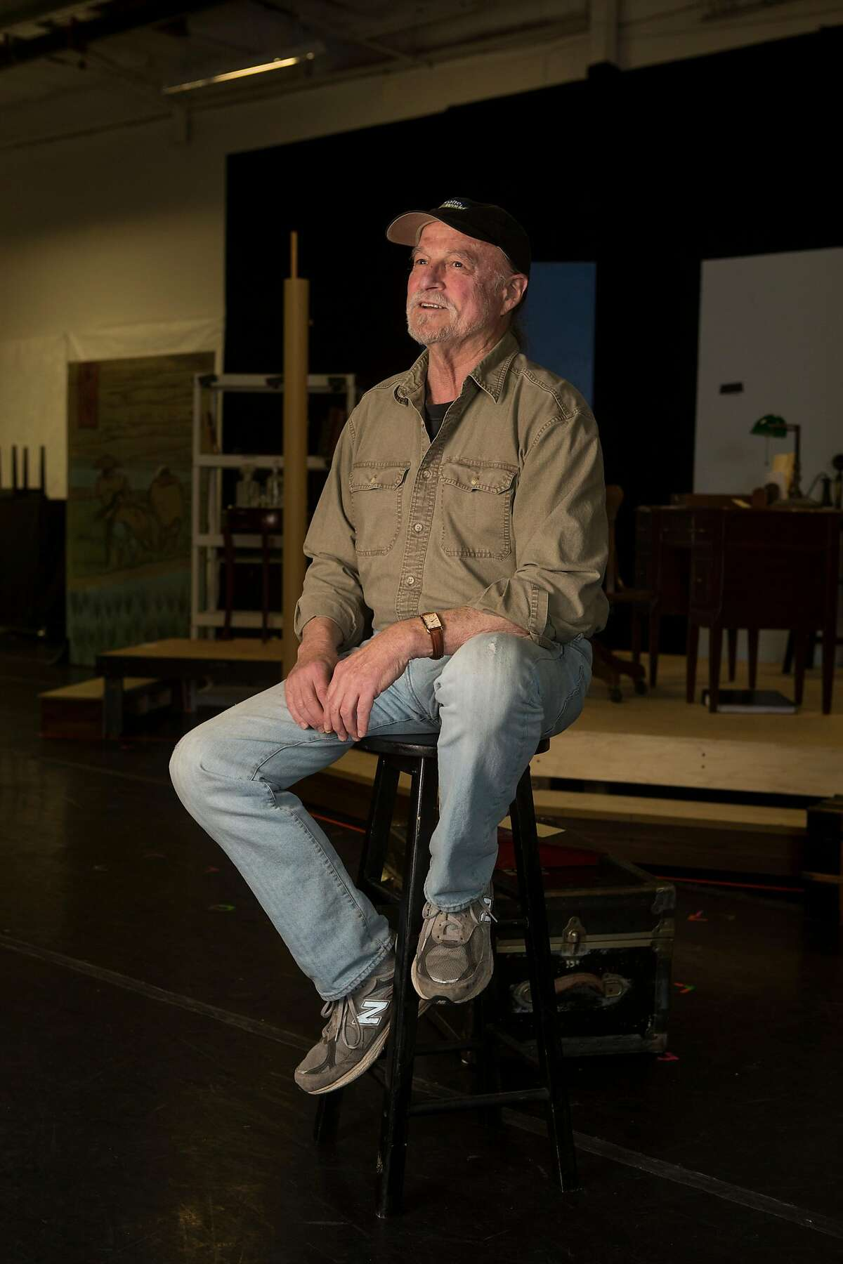 """TheatreWorks artistic director Robert Kelley poses for a portrait during rehearsals for """"Daddy Long Legs"""" on November 15, 2016 in Redwood City, Calif."""