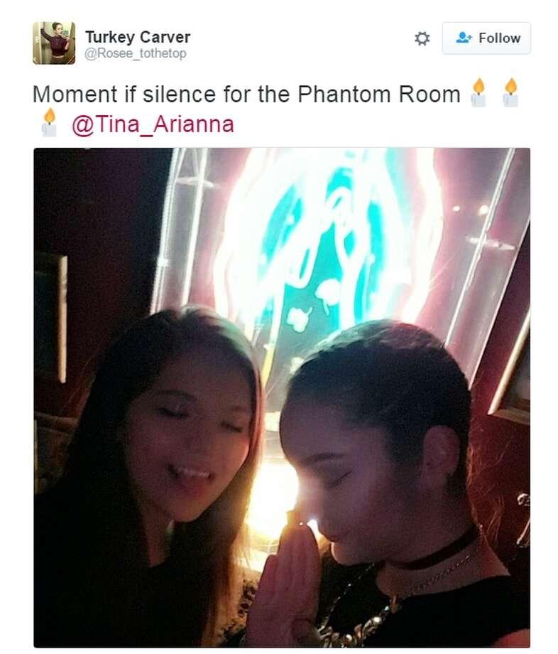 """Moment if silence for the Phantom Room Photo: Twitter.com"