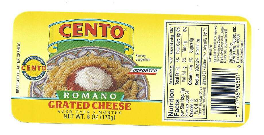 4C Foods Corp. is voluntarily recalling 4C Grated Cheese, Homestyle Grated Cheese, and Cento Grated Cheese Brands due to possible contamination with Salmonella. Photos courtesy of the U.S. Food and Drug Administration. Photo: Contributed / Contributed