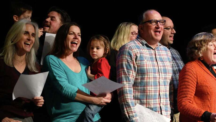 """Let's have a party Albany"" is recored at The Linda, WAMC's Performing Arts Studio, on Wednesday, Oct. 26, 2016, in Albany, N.Y. (Will Waldron/Times Union) Photo: Will Waldron"