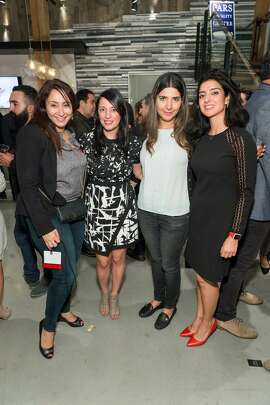 Maryam Ziaei, Sepideh Nasiri, Shadi Saberi and Mahnaz Milani attend Pars Generation+ Election Night Art & Culture Mixer at Cambria Gallery November 8th 2016 at Cambria Gallery in San Francisco, CA