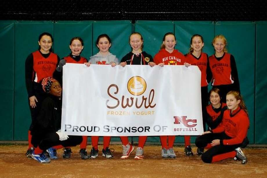 Back Row (L-R): Madison Riascos, Ava Biasotti, Faith Hibbert, Hannah Moore, Claudia Stanley, Annie Gravereaux, Megan Ziegler. Bottom Row (L-R): Unity Lee, Kendall Somma, Sophie Austin Not Pictured: Players Emmi Freeman, Mia Konidaris. Coaches Rob Moore, Mike Hibbert and Robin Biasotti. Photo: Contributed Photo / New Canaan News contributed