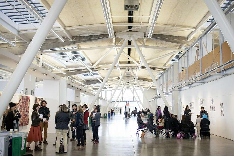 The main building of the California College of the Arts at 1111 8th St. in San Francisco -- a former bus maintenance facility designed by Skidmore Owings and Merrill in 1951, and renovated by Leddy Maytum Stacy in 1999 Photo: California College Of The Arts, Alison Yin