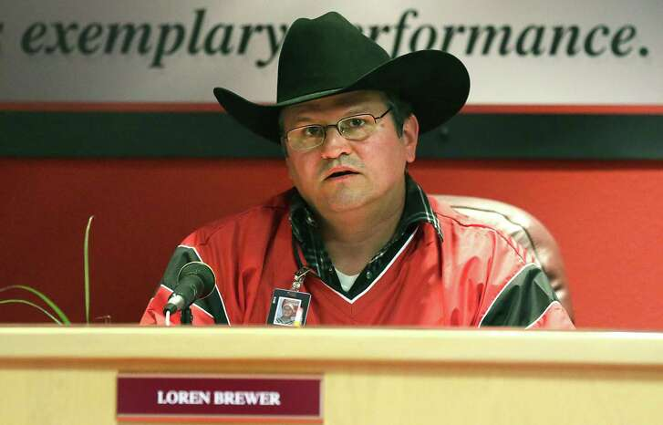 """Southside ISD trustee Loren Brewer, seen in 2014, during an argument at the dais, asked board President Julian Gonzales """"Why don't you just resign?"""""""