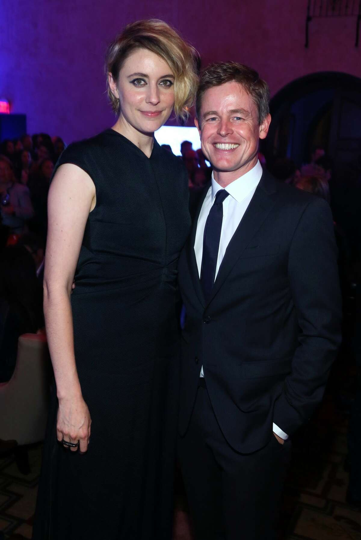 HOLLYWOOD, CA - NOVEMBER 14: Actor Greta Gerwig (L) and Caspar Phillipson attends the after party for the premiere of 'Jackie' at AFI Fest 2016, presented by Audi at The Chinese Theatre on November 14, 2016 in Hollywood, California. (Photo by Gabriel Olsen/Getty Images for AFI)