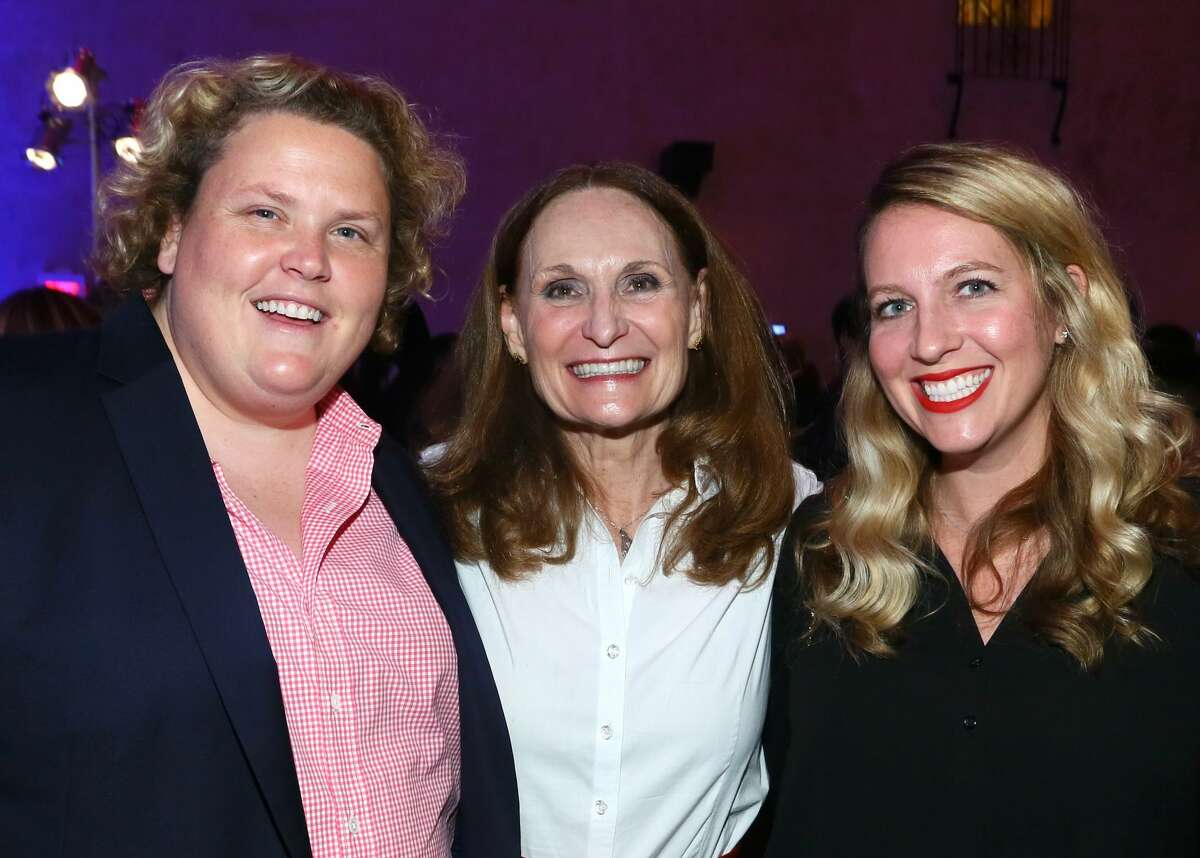 HOLLYWOOD, CA - NOVEMBER 14: Actress/comedian Fortune Feimster, actress Beth Grant and guest attend the after party for the premiere of 'Jackie' at AFI Fest 2016, presented by Audi at The Chinese Theatre on November 14, 2016 in Hollywood, California. (Photo by Gabriel Olsen/Getty Images for AFI)