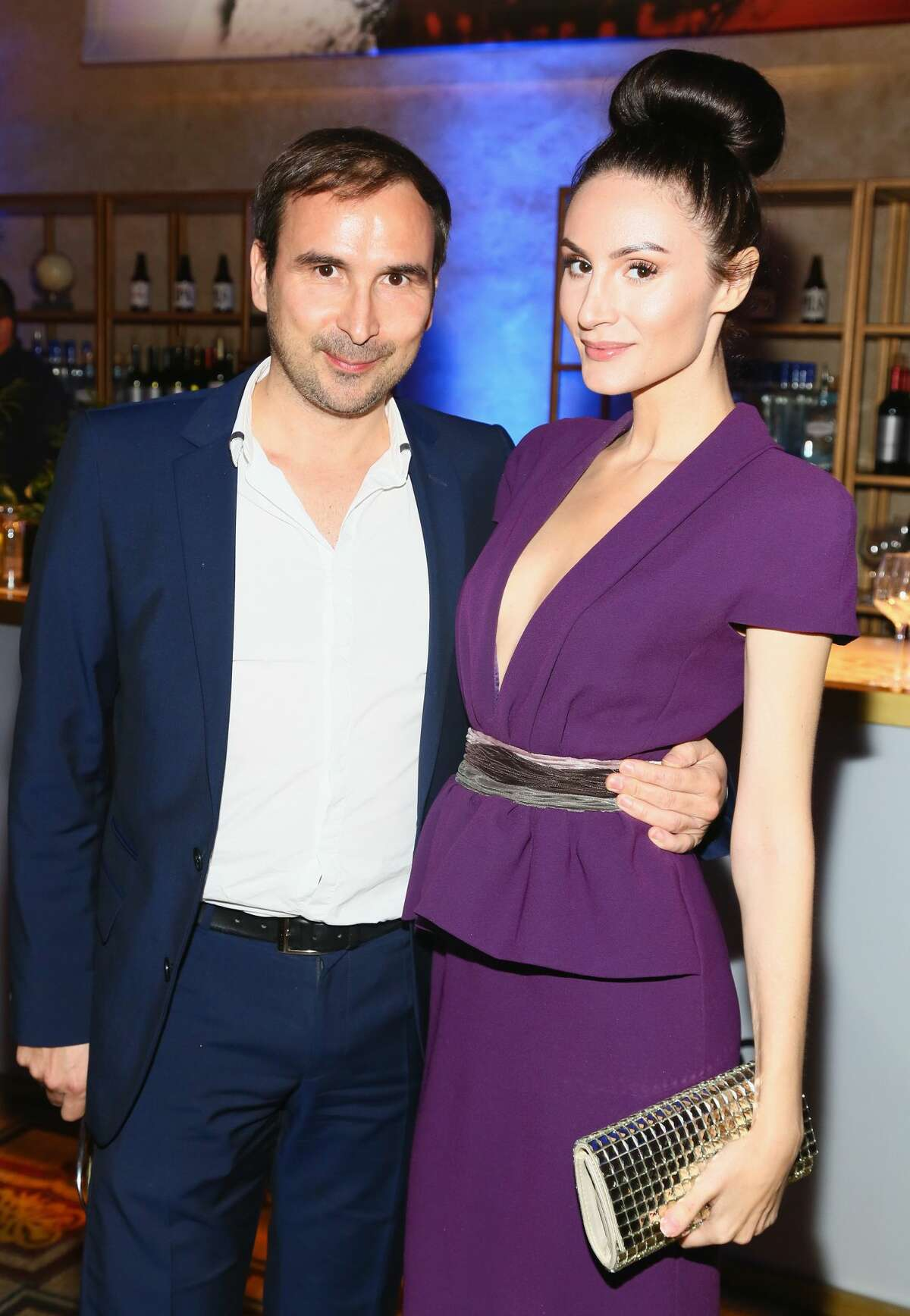 HOLLYWOOD, CA - NOVEMBER 13: Patrice Courtaban and guest attend a Tribute to Isabelle Huppert and Gala Screening of
