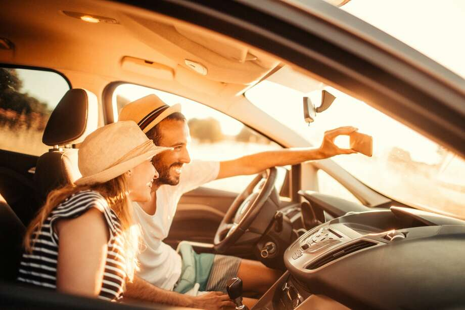 Cool hat, bro. But seriously, you gotta stop taking selfies while driving. Click through the rest of these images to see more explains of selfies while driving. Photo: AleksandarNakic/Getty Images