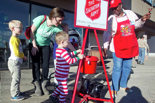 Kathy Williams rings a bell for the Salvation Army on Dec. 1 outside Hobby Lobby on Loop 250.