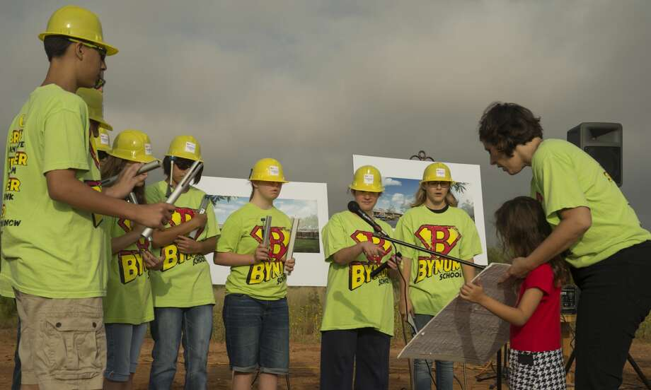 Members of Bynum School Chimes perform Aug. 31 at the groundbreaking ceremony for a new school site at 5100 Avalon Drive off West County Road 60. Photo:  BY TIM FISCHER
