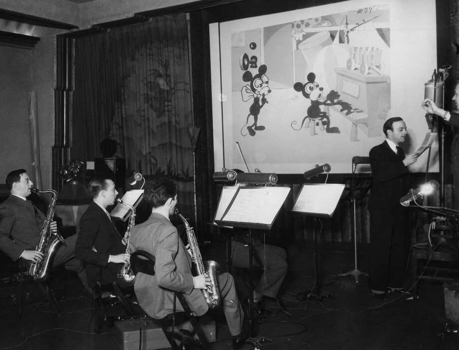Sound recording for a Mickey Mouse motion picture cartoon, June 1932. Photo: Ullstein Bild/ullstein Bild Via Getty Images