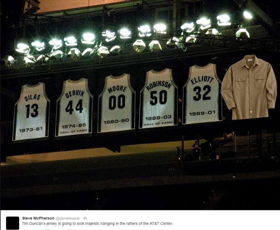Spurs fans react to Tim Duncan's jersey retirement announcement. Photo: TWITTER