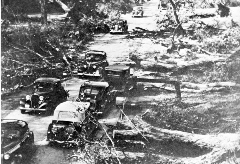 Route 15, the Merritt Parkway in Greenwich, Conn. after the Hurricane of 1938. Contributed by Greenwich Historical Society Photo: Contributed Photo\Greenwich Historical Society / Greenwich Time Contributed