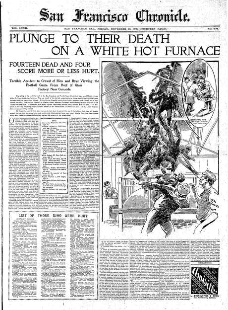 Historic Chronicle Front Page November 30, 1900