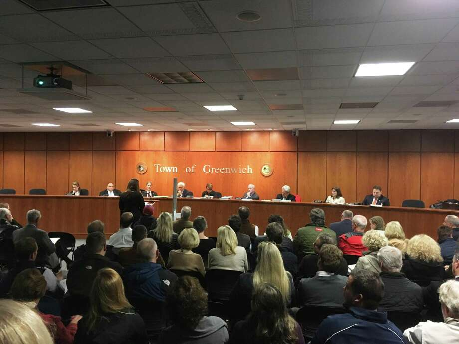 The Planning and Zoning Commission debate on housing regulations Wednesday drew between 150 and 200 people. Photo: Peregrine Frissell