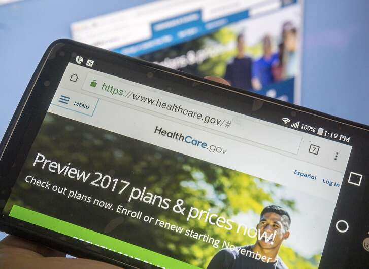 The Healthcare.gov website is shown on Tuesday, Oct. 25, 2016. Signups for healthcare have accelerated after Donald Trump was elected president. (Richard B. Levine/Sipa USA/TNS)